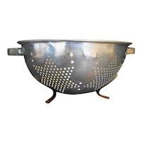 Star Pierced Pattern Aluminum Colander Strainer Vintage