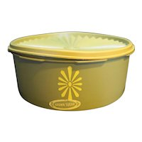 Tupperware 1204 Servalier Avocado Green Short Canister