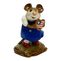 Wee Forest Folk I'm Yours RWB Patriotic 4th of July Special Ed 2000 WFF