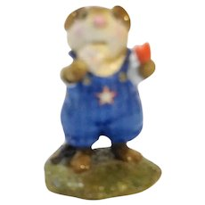 Wee Forest Folk Double Delight M-261 Red White Blue 4th of July 2000 WFF