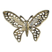 Sarah Coventry Gold Tone Butterfly Pin