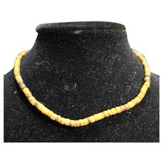 Coconut Wood Heishi Beads Short Necklace