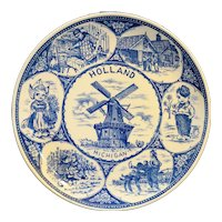 Holland Michigan Blue Transferware Souvenir Plate