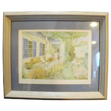 Helen Downing Hunter Midsummer Pasture Watercolor Art Print Signed Framed