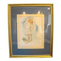 Maud Humphrey Playing Bride Framed Print