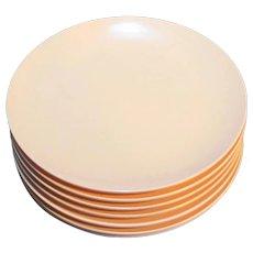 Royalon Melmac Pale Pink Bread Plates Set of 8