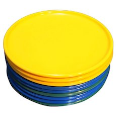 SRO Dallas Texas Plastics Manufacturing Co. Dinner Plates