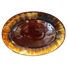 """Pfaltzgraff Gourmet Brown Drip 15"""" Oval Platter 337"""