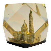 Washington DC Lucite Souvenir Prism Capitol Building Washington Monument