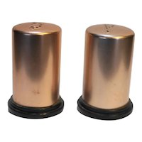 Pink Aluminum Salt Pepper Shakers Pair