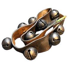 "Sleigh Bells Leather Strap 31"" Vintage"
