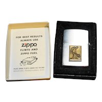 Zippo Lighter Brass Plaque Metalworker Pour New in Box