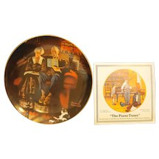 Norman Rockwell Evening's Ease Edwin Knowles Plate