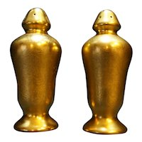 Pickard Rose and Daisy Gold Encrusted Salt Pepper Shakers