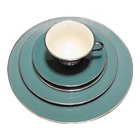 Flintridge Teal Platinum Place Setting 5 Pcs
