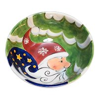 Jolly Santa Hand Painted Serving Bowl Tabletops Unlimited