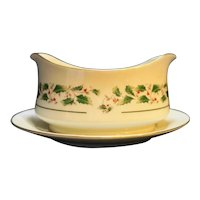 Fine China of Japan Holly Holiday Gravy Boat