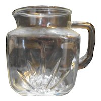 Federal Glass Star Pattern Pitcher 36 Oz 5 3/4 IN