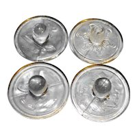 Williams Sonoma Christmas Cookie Stamps Clear Glass Set