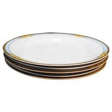 J&G Meakin Nebraska Blue Coupe Luncheon Plates Set of 5
