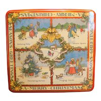 Williams Sonoma 12 Days of Christmas Cookie Tin Square