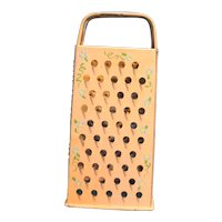 Bromco Box GRater Hand Painted Pink Blue Flowers
