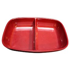 Brookpark Modern Design Deep Red Melmac Divided Bowl