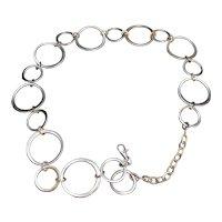 Silver Tone Chain Circles Belt