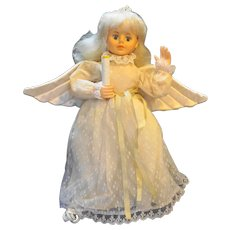 Christmas Angel Telco Creations Motionette Angel Lights Moves 1990