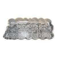 Gorham Holiday Traditions North Pole Express Crystal Tray