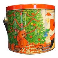 Christmas Scene Pail Bucket Bale Handle