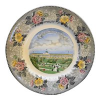 Jonroth Adams Multicolor Transferware Mackinac Island Souvenir Plate