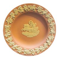 Pink Wedgwood Jasperware Neoclassical Scene Pin Dish Butter Pat