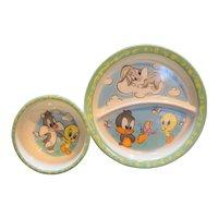 Baby Looney Tunes Zak Designs Melmac Plate Bowl