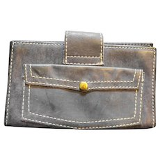 Denim Blue Suede Ambassador Top Grain Cowhide Ladies' Wallet