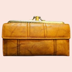Ranchero Cowhide Brown Leather French Clutch Wallet