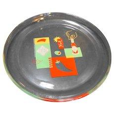 "Authentic Tabasco Brand Glassware 12"" Platter Tray 2000"