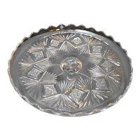 Sheaf and Diamond Bryce Higbee EAPG Cake Stand Pattern Glass 1905