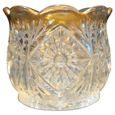 Tarentum Postscript EAPG Sugar Bowl Gold Trim 1905