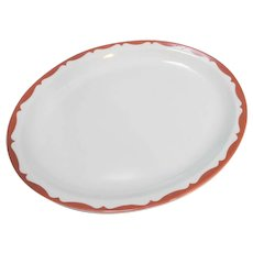 Mayer China Red Scroll Oval Platter Restaurant Ware 13 IN