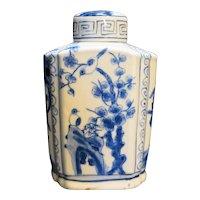Chinese Porcelain Hand Painted Blue White Bottle Jar