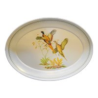 Game Birds Pheasants  Melmac Oval Platter 15 x 21