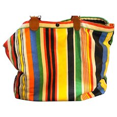 Richmark Bright Striped Canvas Tote Bag Large
