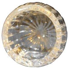 Italian Crystal Orb Ball Ashtray Cut Ribs