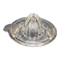 Crystal Clear Tab Handle Reamer Small Unmarked Depression Glass