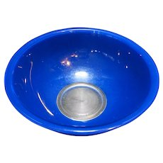 Pyrex 326 4L Royal Blue on Clear Large Mixing Bowl
