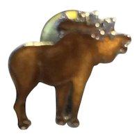 MAFCO Moose Elk Brown Enamel Lapel Pin