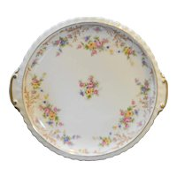 Princess Garden Manor Czechoslovakia White Floral Cake Plate