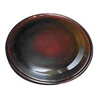 "Ruby Red Glass Round Platter Torte Plate Plain 12 1/2"""