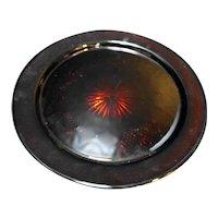 Cristal d'Arques JG Durand Antique Ruby Red Torte Plate Round Platter